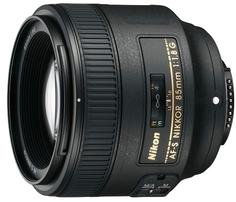 Объектив Nikon AF-S 85mm f/1.8G Nikkor (черный)