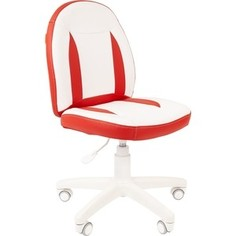 Кресло Chairman Kids 122 экопремиум белый/красный