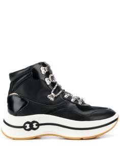 Tory Burch высокие кроссовки на шнуровке