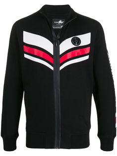 Plein Sport спортивная куртка с контрастными полосками