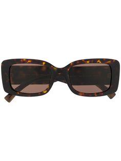 Versace Eyewear солнцезащитные очки в прямоугольной оправе с логотипом