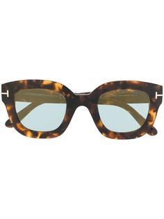 Tom Ford Eyewear солнцезащитные очки в квадратной оправе черепаховой расцветки