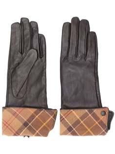 Barbour перчатки с окантовкой в клетку