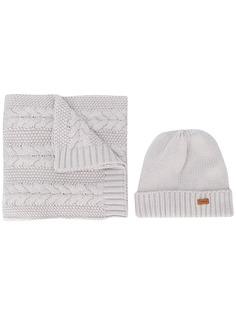 Barbour комплект из шапки и шарфа фактурной вязки