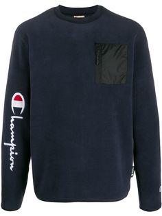 Champion zipped patch pocket jumper