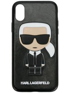 Karl Lagerfeld чехол для iPhone X с тиснением Karl Ikonik
