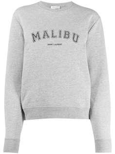 Saint Laurent толстовка Malibu с круглым вырезом
