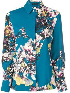Natori блузка с цветочным принтом