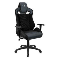 Кресло игровое AEROCOOL Earl AC180 Steel Blue, на колесиках, ткань, черный/синий