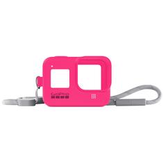 Аксессуар для экшн камер GoPro Sleeve + Lanyard HERO8 Neon Pink (AJSST-007)