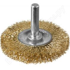 Щетка дисковая (50 мм; 0.3 мм; витая латунированная стальная проволока) для дрели зубр 3520-050_z02