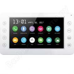 Цветной монитор видеодомофона без трубки hands-free сатро dm-701-w cc000003948