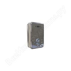 Диспенсер для мыла nofer inox глянцевый прямоугольный с пластиком внутри 1200 мл. 03041.b
