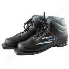 Лыжные ботинки atemi а100, натуральная кожа, размер 37, крепление 75 мм 00-00000071
