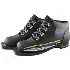 Лыжные ботинки atemi а200 blue, черные с отделкой, размер 37, крепление 75мм 00-00000082