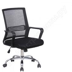 Кресло оператора, с подлокотниками, хром, черное brabix daily mg-317 531833
