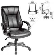 Офисное кресло, экокожа, черное brabix maestro ex-506 530877