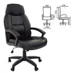 Офисное кресло, экокожа, черное brabix formula ex-537 531388