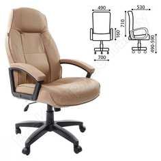 Офисное кресло, экокожа, песочное brabix formula ex-537 531390