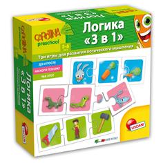 Обучающая настольная игра Lisciani Carotina preschool Логика 3 в 1