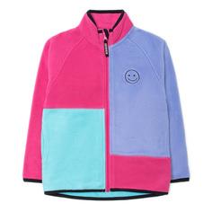 Кофта Crockid, цвет: бирюзовый/розовый