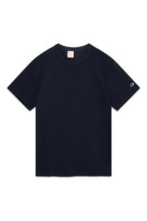 Темно-синяя хлопковая футболка Champion