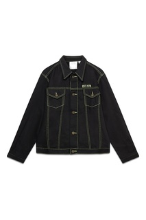 Черная куртка с контрастной отстрочкой Calvin Klein