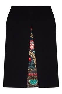 Черная юбка с комбинированной подкладкой Etro