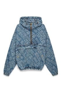 Голубой анорак из денима Versace Jeans