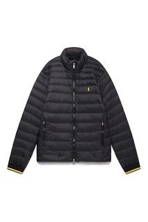 Черная куртка с яркой окантовкой Polo Ralph Lauren