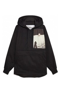 Куртка-анорак с принтом и карманом Calvin Klein