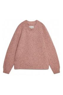 Розовый джемпер фактурной вязки Maison Margiela