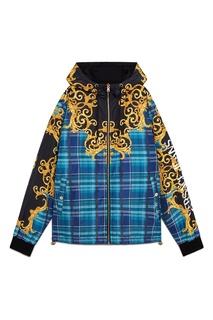 Разноцветная куртка с капюшоном Versace Jeans