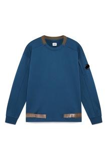 Синий флисовый свитшот с отделкой C.P. Company