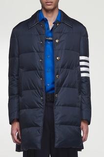 Темно-синяя стеганая куртка с отделкой Thom Browne