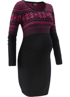 Платья Для будущих мам: вязаное платье с норвежским узором Bonprix