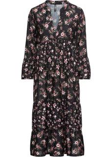 Платья с длинным рукавом Платье из трикотажа Bonprix