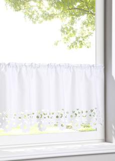 Короткие шторы Занавеска кухонная с узором по краю Bonprix