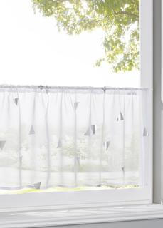 Короткие шторы Занавеска кухонная с блестящим принтом Bonprix