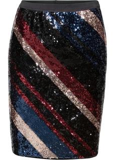 Короткие юбки Юбка-карандаш с пайетками Bonprix