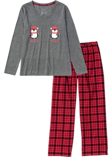 Новинки Пижама c брюками из фланели Bonprix