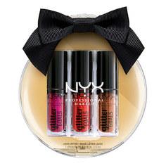 Набор блесков для губ NYX PROFESSIONAL MAKEUP LOVE LUST DISCO 3 оттенка в елочном шаре