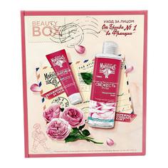Набор подарочный женский LE PETIT MARSEILLAIS мицеллярная вода для лица Свежесть розы 400 мл, крем для лица Свежесть розы 50 мл