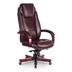 Кресло для руководителя T-9923WALNUT/BROWN Бюрократ