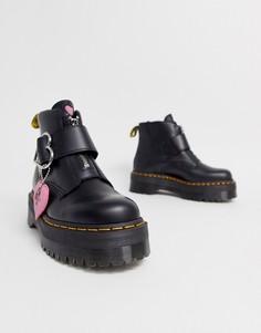 Массивные ботинки с пряжками Dr. Martens x Lazy Oaf-Черный