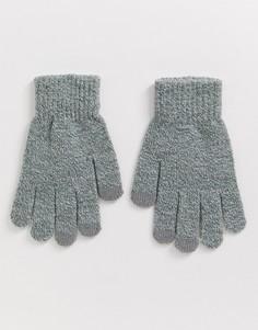 Вязаные перчатки для сенсорных экранов French Connection-Черный