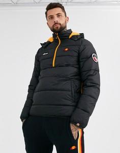 Черная дутая куртка с короткой молнией ellesse Narni-Черный