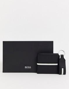 Подарочный набор с бумажником и брелком для ключей BOSS-Черный