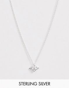 Серебряное ожерелье с подвеской-сердечком ASOS DESIGN-Серебряный