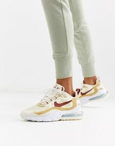 Бежевые кроссовки Nike Air Max 270 React-Кремовый